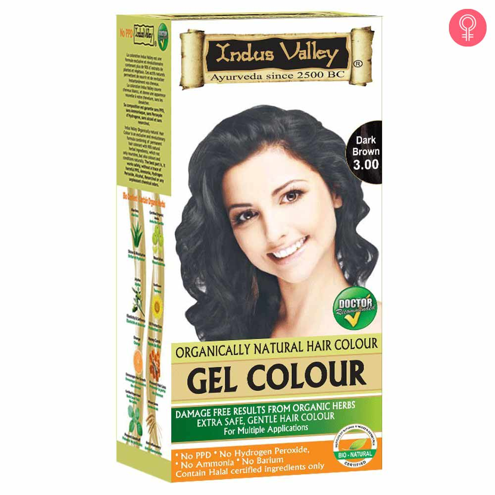 Indus Valley Organically Natural Gel Hair Color Dark Brown