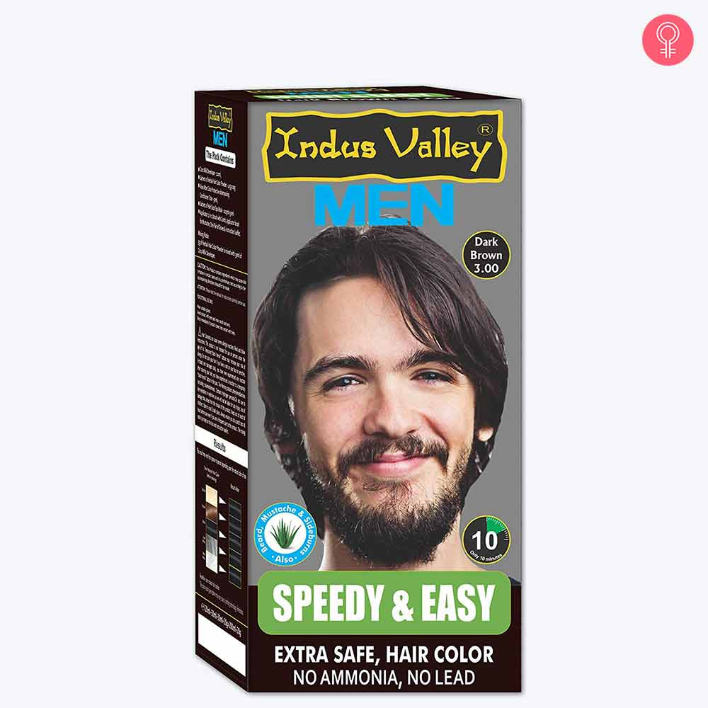Indus Valley Speedy and Easy Hair Colour For Men Hair Color (Dark Brown 3.0)