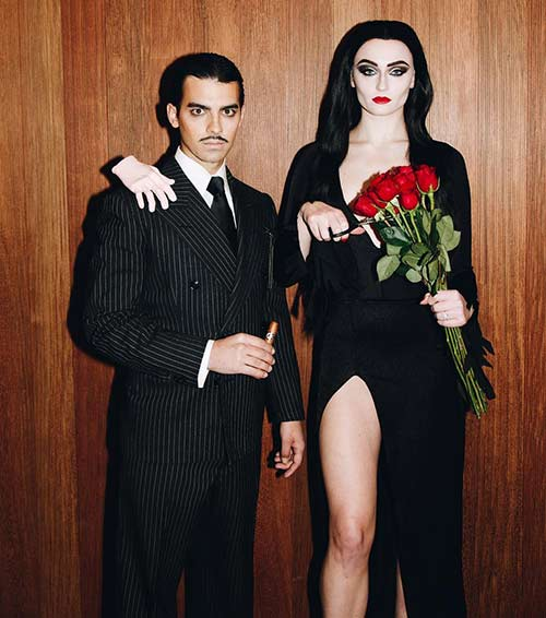 Joe Jonas and Sophie Turner- Gomez And Morticia From The Addams Family