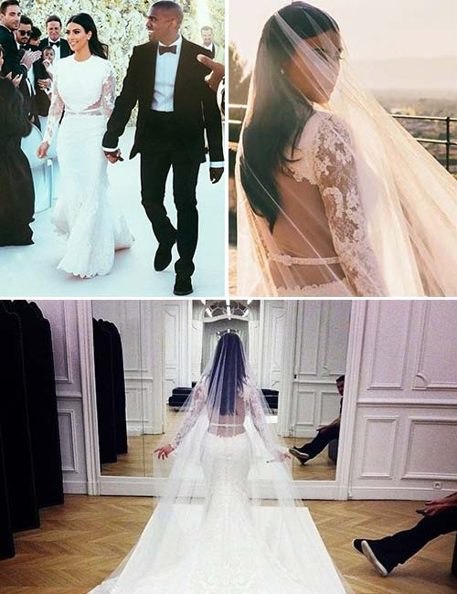 Kim Kardashian's Givenchy Wedding Gown – $500,000