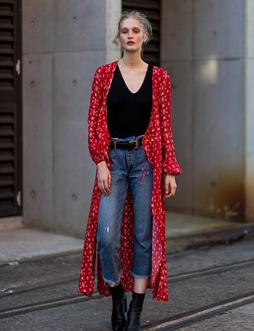 Kimono Over Jeans