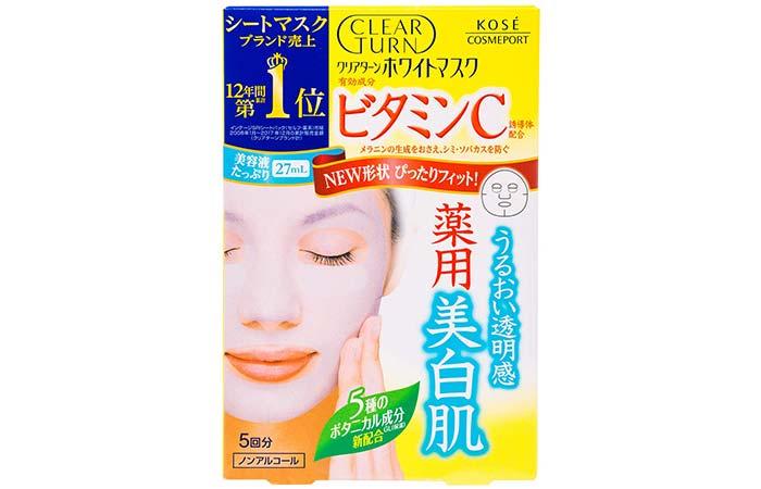 Kose Clear Turn White Vitamin C Facial Mask