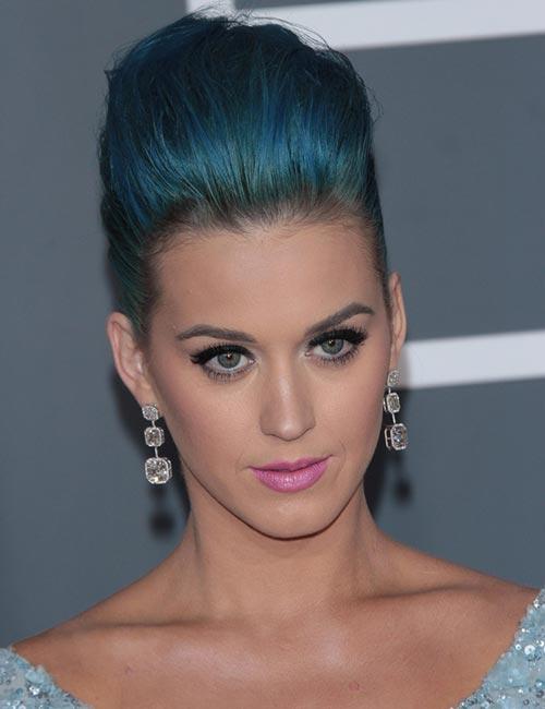 Mermaid Blue Pouf Updo