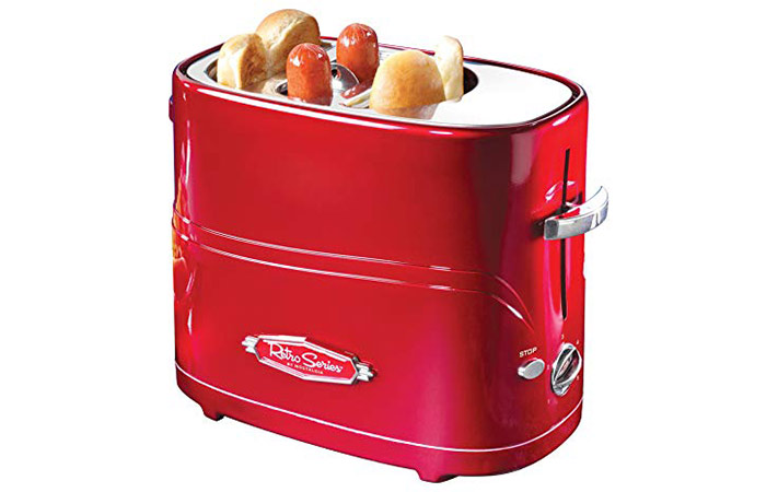 Nostalgia Retro Pop-Up Hot Dog Toaster