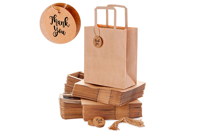 OSpecks Brown Kraft Paper Shopping Bags