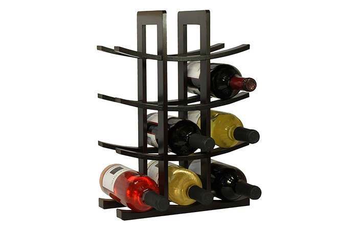 Oceanstar 12-Bottle Bamboo Wine Rack (Dark Espresso)