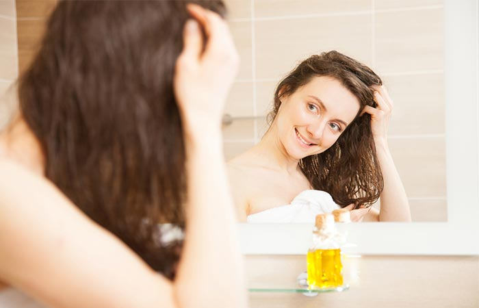Olive oil hair spa treatment
