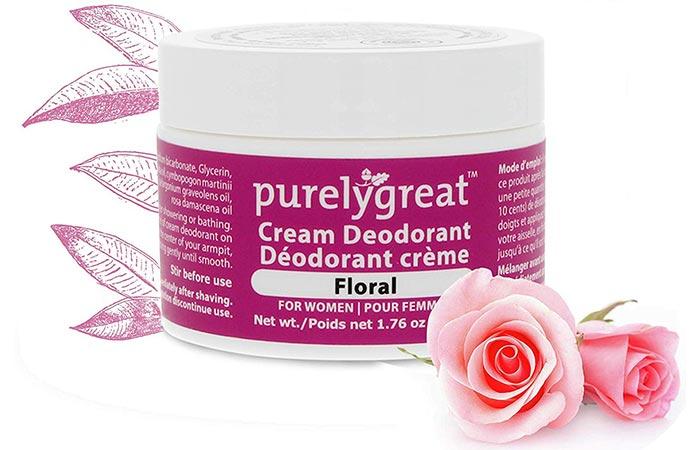 Purelygreat All Natural Women's Cream Deodorant