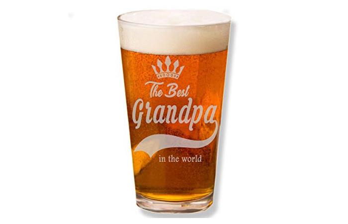 Shop4Ever Engraved Beer Glass