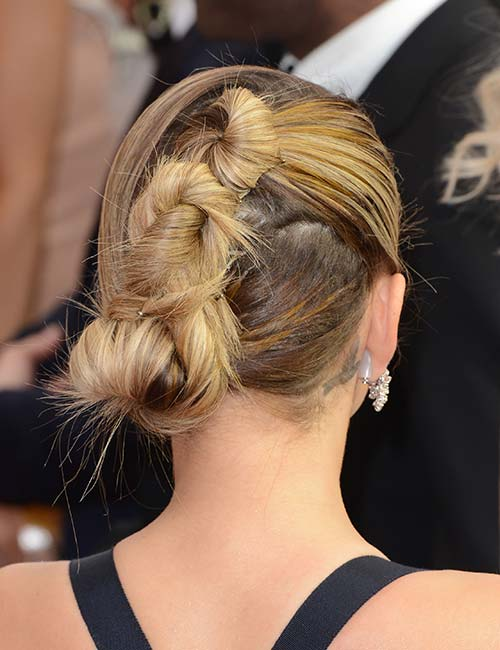 Slanted Tri-Knotted Bun