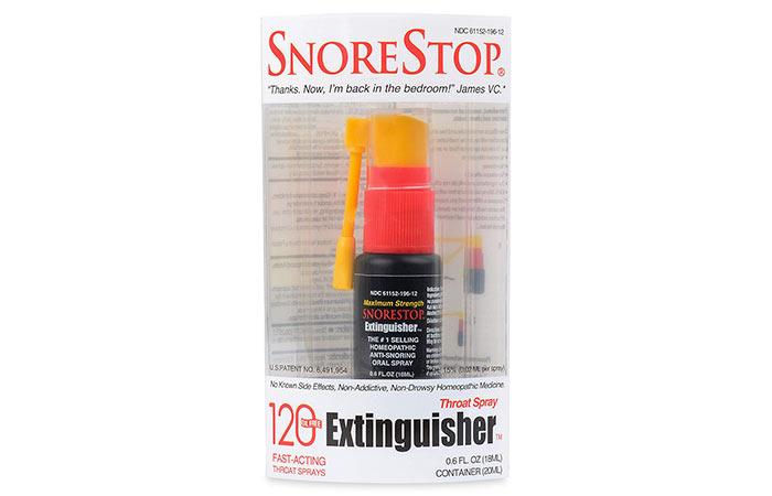 SnoreStop пожарогасител 120 гърло хъркащ спрей