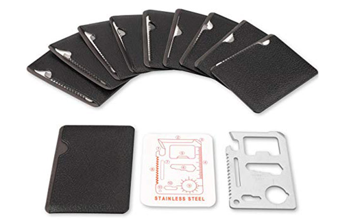 Stainless Steel Card Tool That Fits in Your Wallet