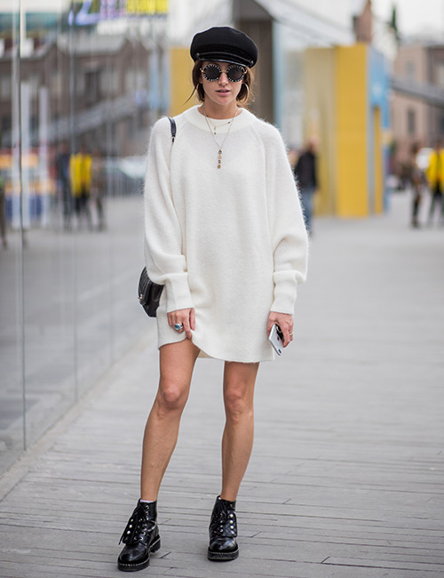 Sweater Dress With Statement Shades
