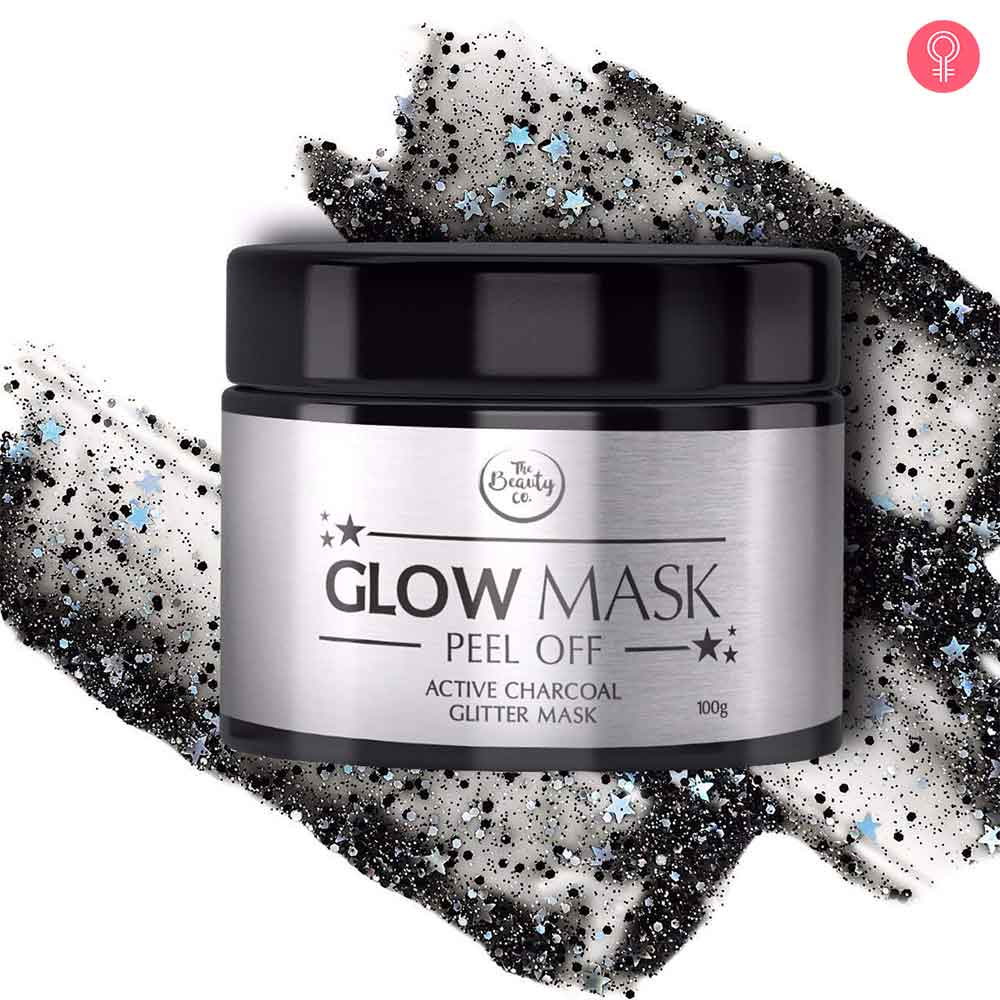 The Beauty Co. Activated Charcoal Glitter Glow Mask