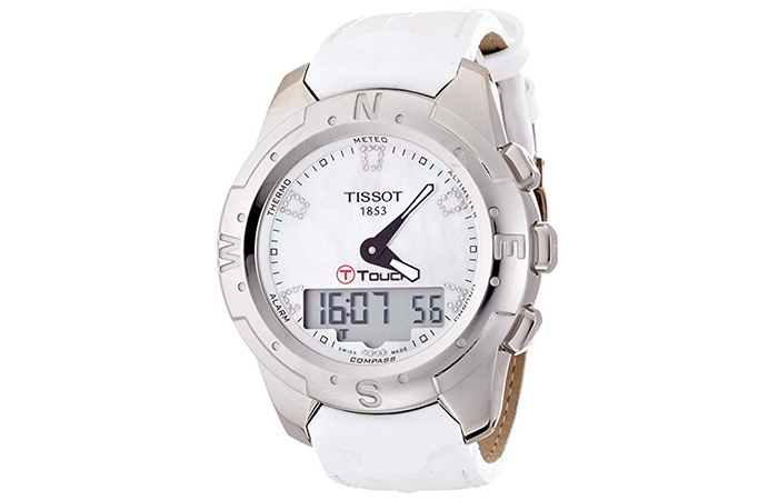 Tissot T-Touch II White Mother of Pearl Ladies Watch
