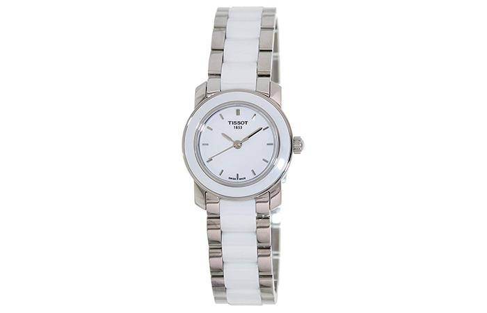 Tissot Women's Cera Silver-Tone Ceramic Watch