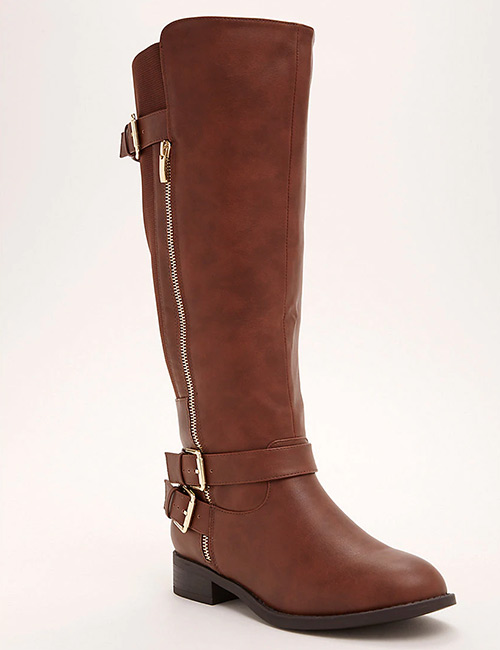 Torrid Brown Brushed Faux Leather Tall Boot
