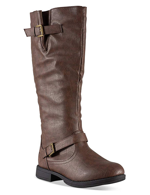 Twisted Women's Amira Wide Calf, Knee-High Riding Boots