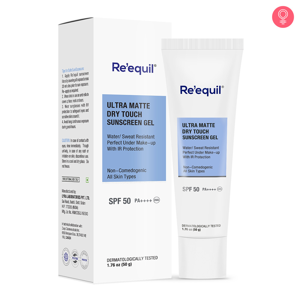 Re'equil Ultra Matte Dry Touch Sunscreen Gel