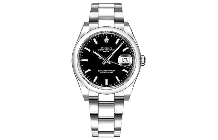 Women's Rolex Oyster Perpetual Date 34 Black Dial Luxury Watch