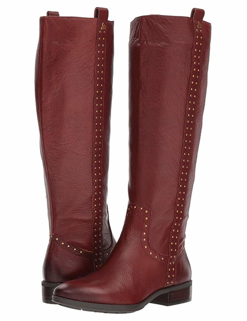 Zappos Sam Edelman Prina Wide Calf Leather Tall Boots