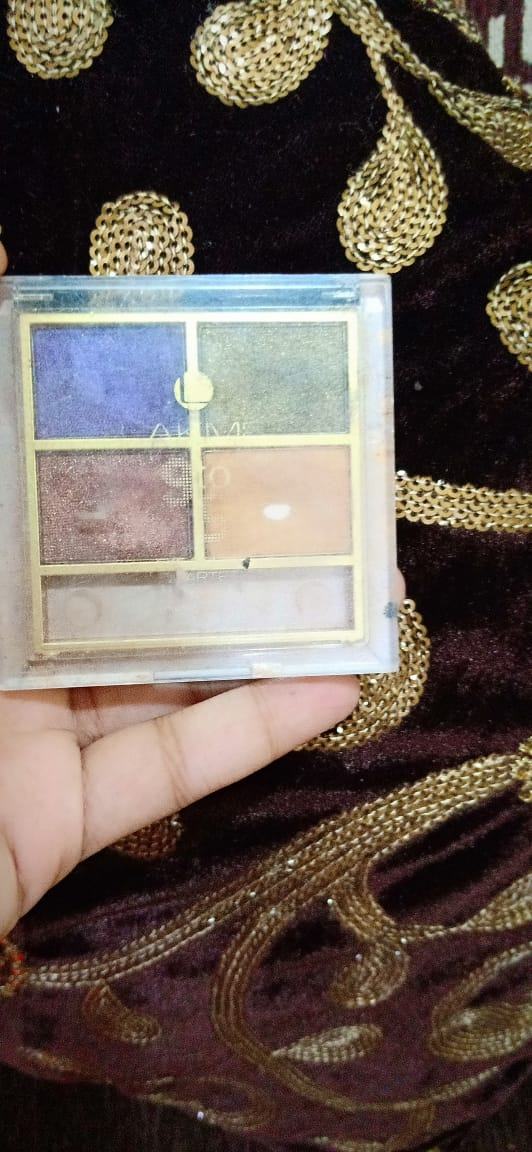 Lakme 9 To 5 Eye Quartet Eyeshadow pic 2-Decently pigmented-By fatma