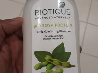 Biotique Bio Soya Protein Fresh Nourishing Shampoo pic 2-Good for dehydrated and damaged hair-By manju_
