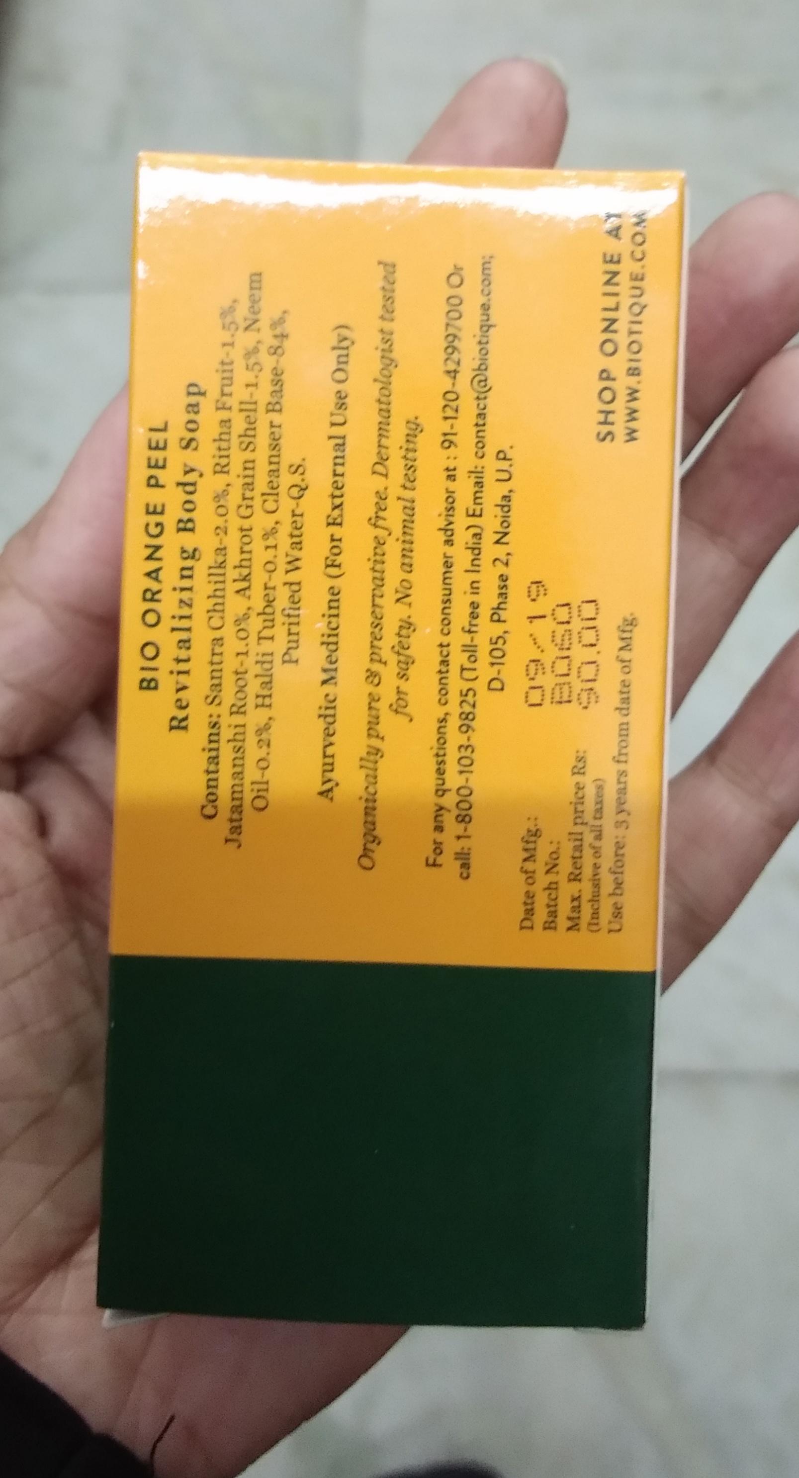 Biotique Bio Orange Peel Body Revitalizing Body Soap pic 2-A scrub soap-By Nasreen