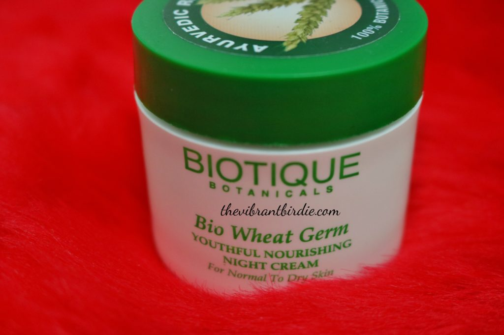 Biotique Bio Wheat Germ Youtheful Nourishing Night Cream-For fair skin.-By simmi_haswani-4
