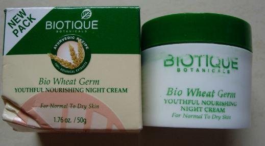 Biotique Bio Wheat Germ Youtheful Nourishing Night Cream-For fair skin.-By simmi_haswani-9