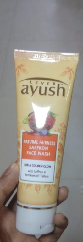 Lever Ayush Natural Fairness Saffron Face Wash pic 2-Cleanses well-By saraswathig