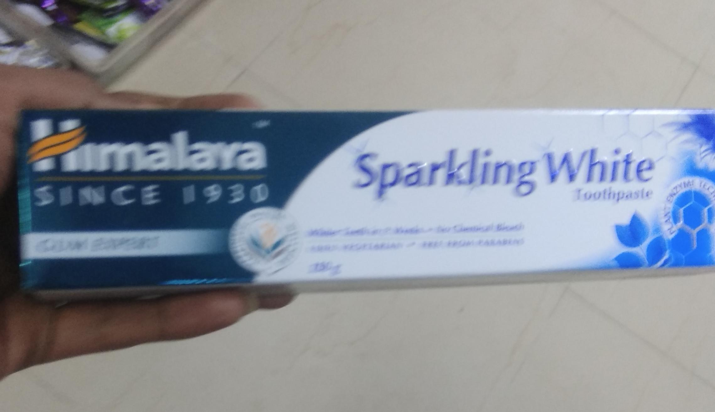 Himalaya Herbals Sparkling White Toothpaste-Strengthens gums-By saraswathig-1