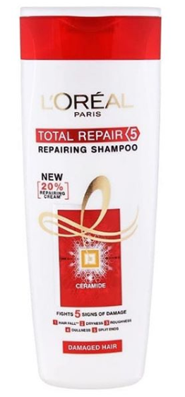 L'Oreal Paris Total Repair 5 Advanced Repairing Shampoo -Loreal shampoo is best for daily use-By shrabasti