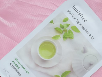 Innisfree My Real Squeeze Mask Green Tea -Green tea goodness in a sheet mask-By ariba