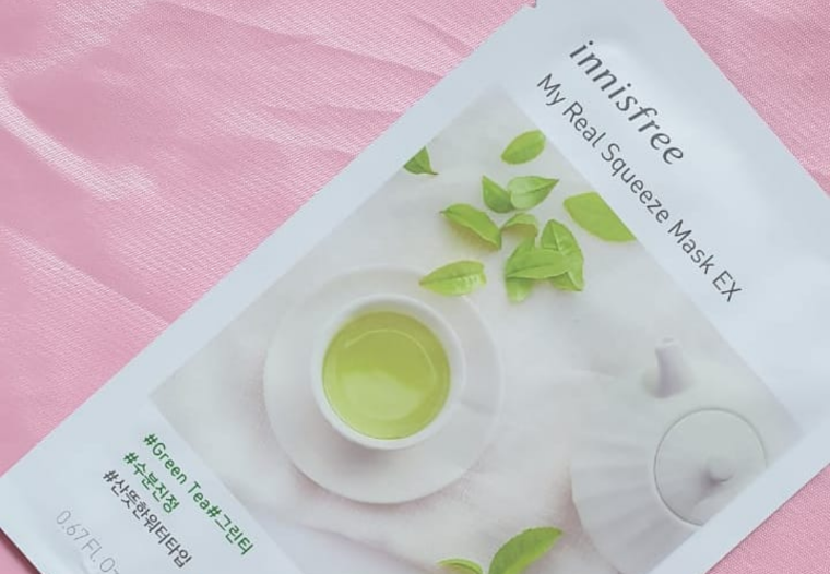 Innisfree My Real Squeeze Mask Green Tea-Green tea goodness in a sheet mask-By ariba