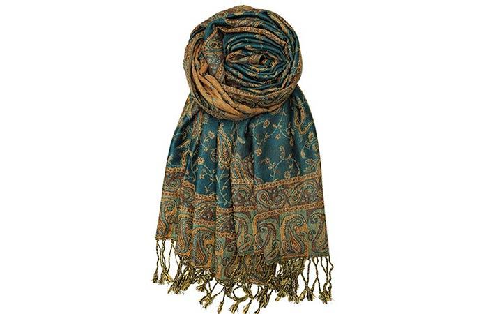 Achillea Soft Silky Reversible Paisley Pashmina Shawl Wrap Scarf wFringes