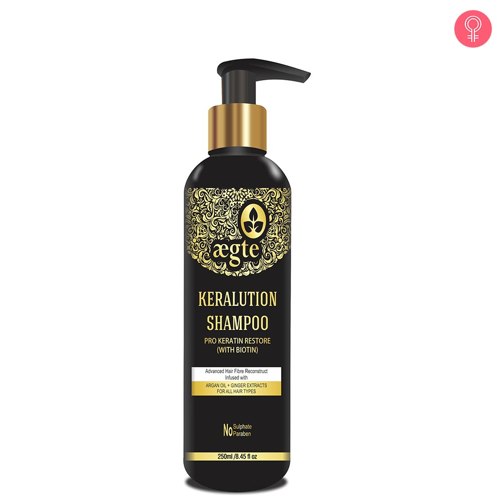 Aegte Keralution Shampoo Pro-Keratin Restore (With Biotin) for Hair Strengthening & Voluminizing