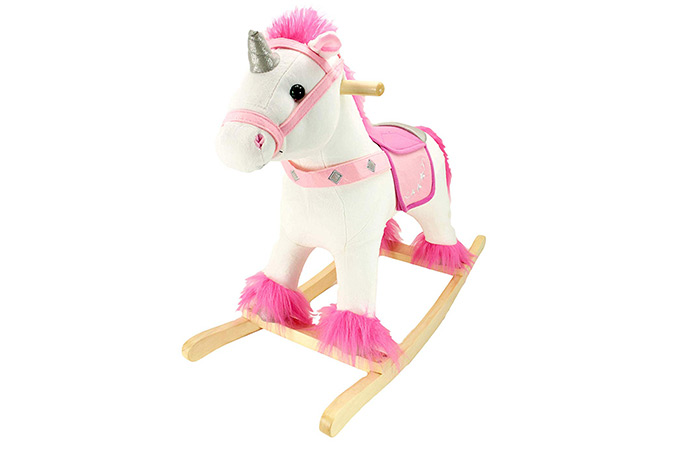 Animal Adventure White And Pink Unicorn Rocker