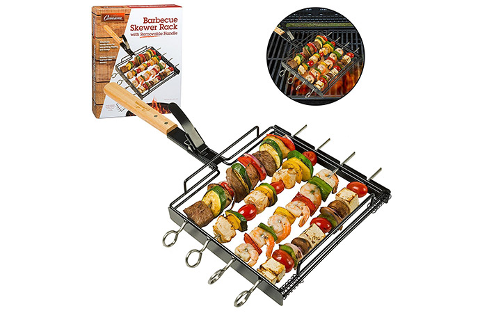 Camerons Products Skewer Rack Set with Removable Handle