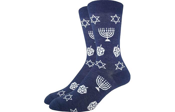 Good Luck Men's Hanukkah Crew Socks