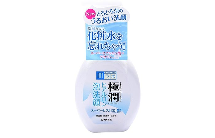 Hada Labo Rohto Gokujyn Hyaluronic Acid Cleansing Foam