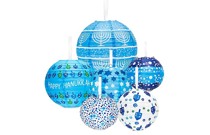 Hanukkah Hanging Ball Lanterns Ornaments