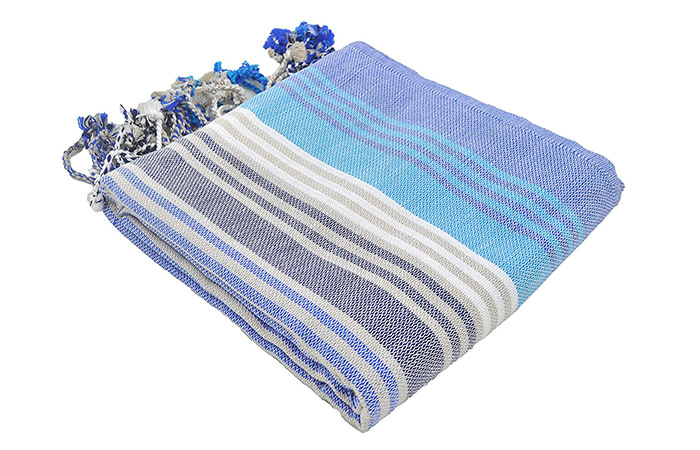 InfuseZen Striped Colorful Turkish Towels