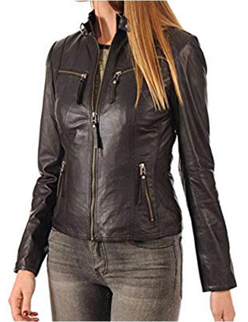 KYZER KRAFT Women's Leather Jacket