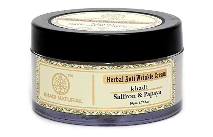 Khadi Saffron & Papaya Anti-Wrinkle Cream