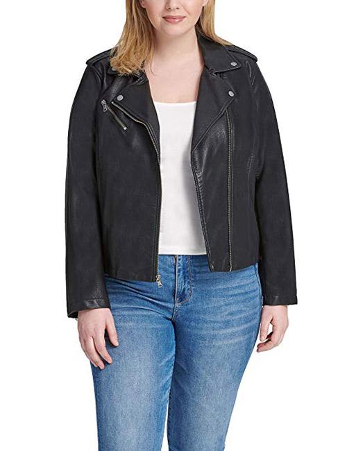 Levi's Ladies Outerwear Women's Plus Size Classic Faux Leather Motorcycle Jacket