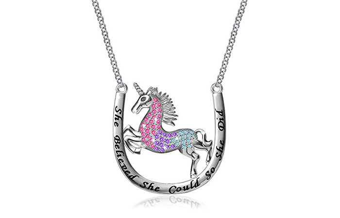 MONBO Sterling Silver Unicorn Pendant