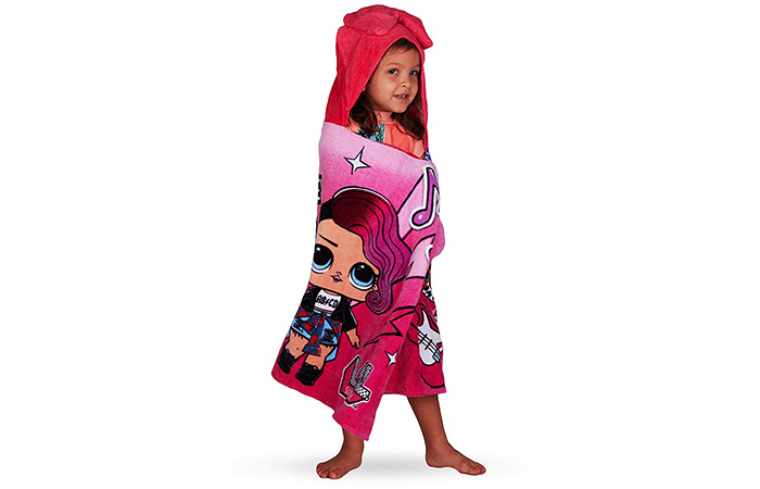 O.L. Surprise! Hooded Bath Towel Wrap