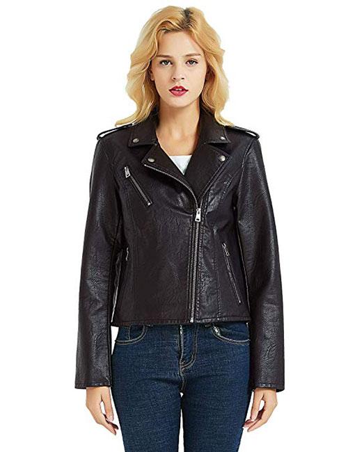 PANAPA Women's Premium Faux Leather Jacket
