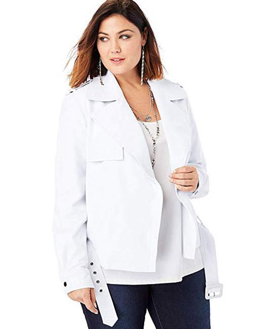Roamans Women's Plus Size Classic Moto Jacket